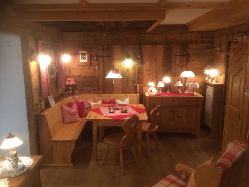 Essecke im Wohnladen Geiger in Eschenlohe