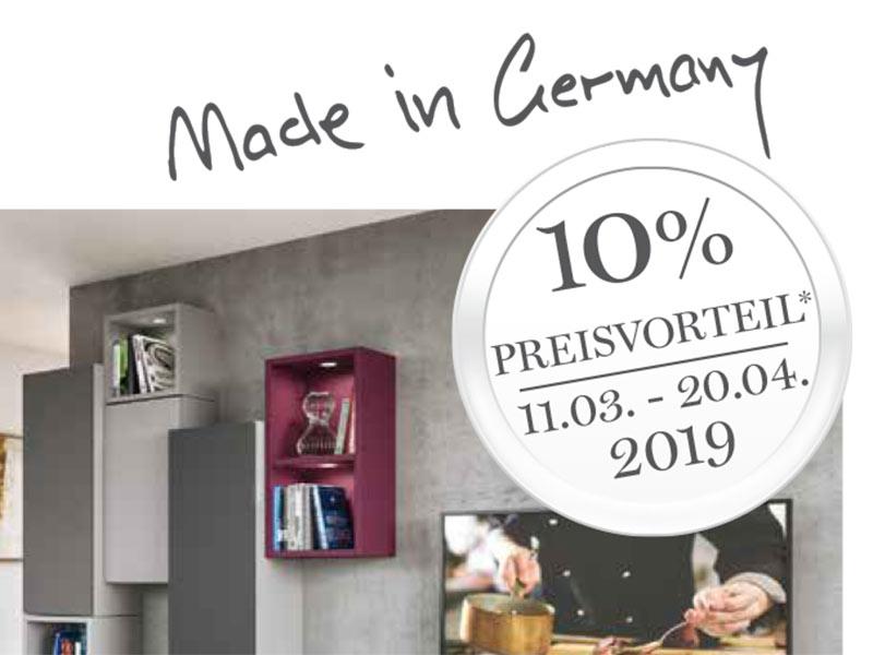 Nur von 11.03. – 20.04.2019: 10% Preisvorteil auf Cabinet-Systeme